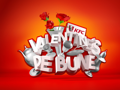 KFC - Valentine's Pe Bune - V1 advertising design valentines 3d romania logo kfc campaign advertising