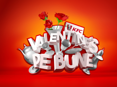 KFC - Valentine's Pe Bune - V1 advertising design valentines 3d romania logo kfc campaign advertising