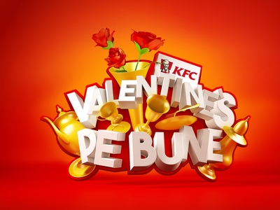KFC - Valentine's Pe Bune - V2 valentines romania kfc campaign design advertising 3d