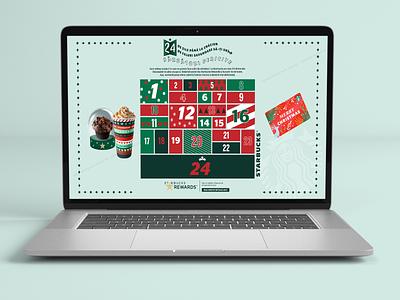 Starbucks Xmas Calendar holiday xmas campaign coffee calendar landing page design landingpage starbucks