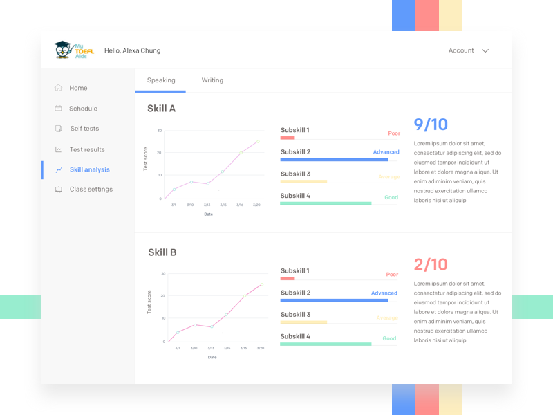 UI design ed tech app web dashboard startup web app ux edtech education minimal clean ui