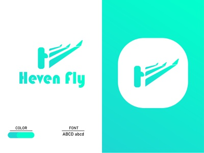 Heven fly illustration professional logo logo