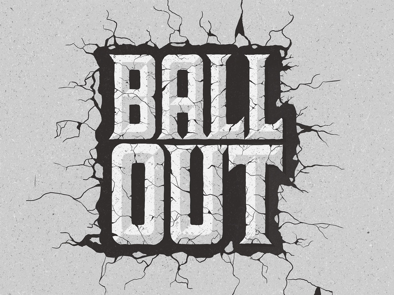 Ball Out illustration design procreate typography design typography ball sports design concrete lettering sports basketball