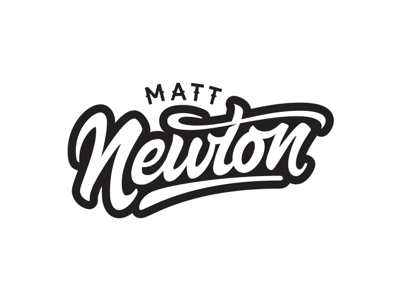 Matt Newton Logo newton matt branding typography logo