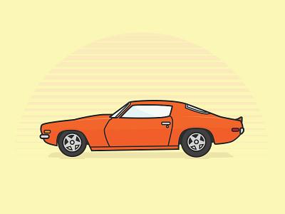 70' Camaro chevy camaro car illustration