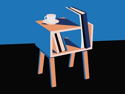 Books coffee vector illustration books