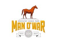 Man o' War 100 Logo