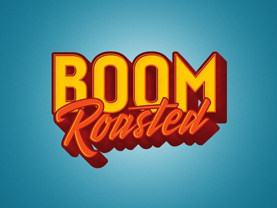 Boom Roasted office roasted boom typography type