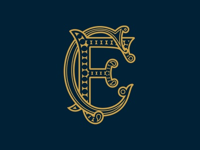 FC Monogram fc badge icon logo monogram