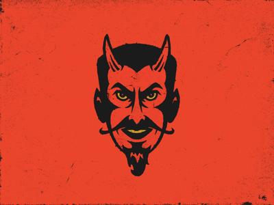 Lil Devil evil lucifer satan devil horns face illustration