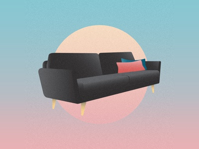 Couch vector illustration midcentury modern midcenturymodern midcentury interior design furniture couch