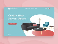 Perfect Space – Homepage concept