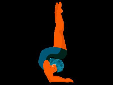 Contortionist contortion digital illustration circus