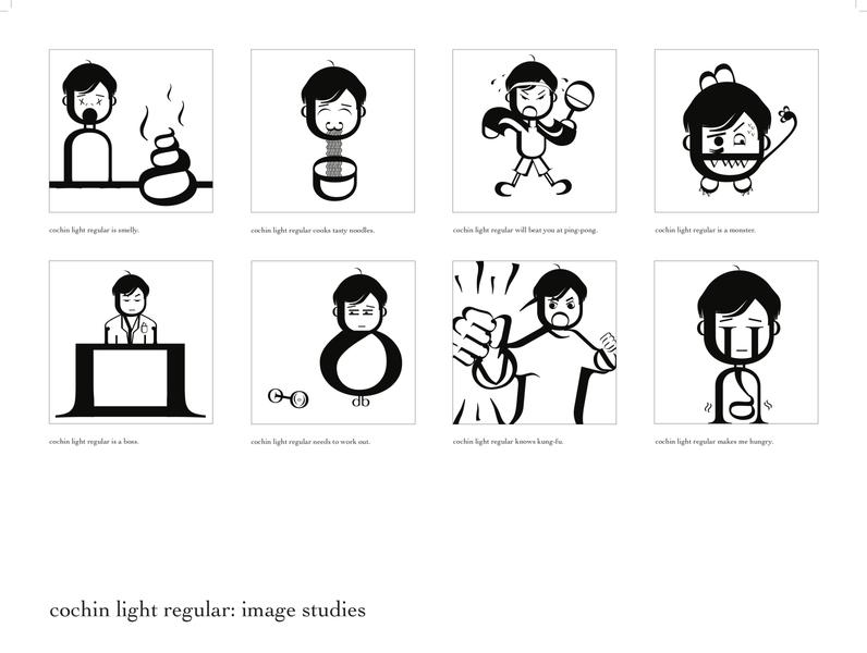 Cochin Regular Image Studies type art black and white