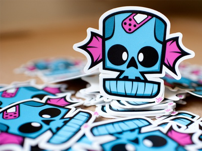 Skully Sticker Time
