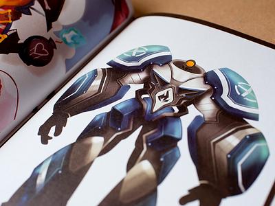 Art book pages.  sci-fi painting studio manga robots photoshop artbook