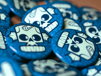 Skully Button! awesomeness diy illustrator button