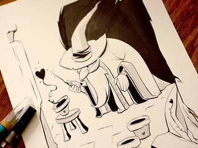 Inktober6 spreadlove wizardsrule traditionalart ink inktober2016 inktober characterdesign characterdesigns drawingchallenge artisawesome lovewhatyoudraw