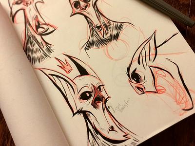 Inktober10 Dribbble charactersketch inking instaart characterdesign inktober2016 ink traditionalart sketchbook lovewhatyoudraw diyartist