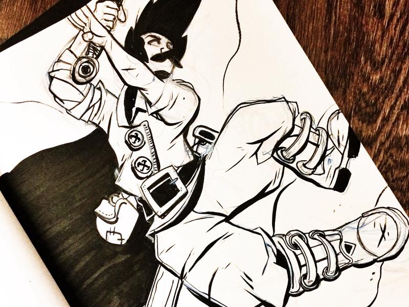 Inktober11 Dribbble makecomics comicartist comics mangaart inktober sketch sketchbook ink inktober2016 lovewhatyoudraw