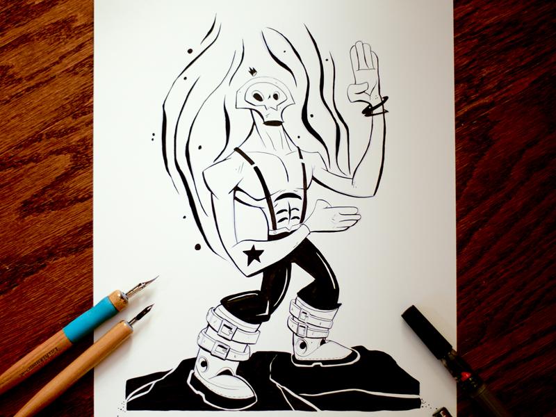 Inktober 12  manga mangaart lovewhatyoudo comicart halloween traditionalart characterdesign inking ink inktober2016