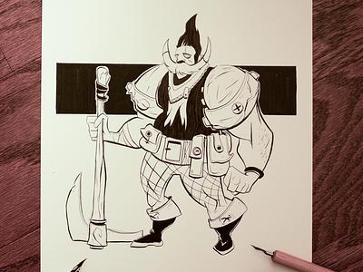 Inktober 14 lovewhatyoudraw sketch characterdesign mangaart comicart manga inking ink inktober inktober2016
