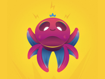Happy Octo happytime octopus characterdesign vector