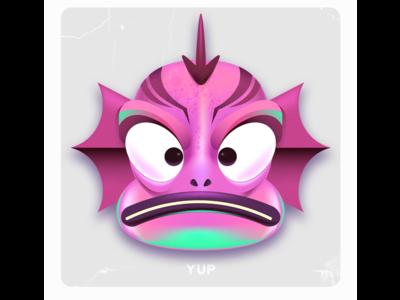Fishy Gradient Mesh Practice creature design kawaii digital art vector art character design adobe illustrator