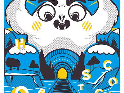 Hopscotch Poster silkscreen adobeillustrator graphicdesign illustration posterart poster vectorart