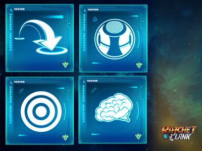 Ratchet and Clank Training Icons ps4 hud gameui illustrator photoshop ui