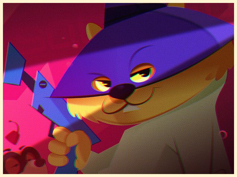 Secret Squirrel! cartoons illustration affinitydesigner vector art