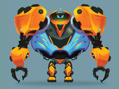 Robo time 5000! digital painting digitalart drawing mecha robots characterdesign character illustration photoshop