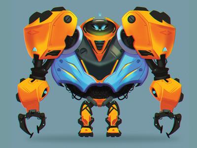 Robo time 5000! digital painting digitalart drawing mecha robots characterdesign character illustration photoshop