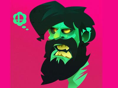 zombie self portrait affinitydesigner vector illustration illustrator