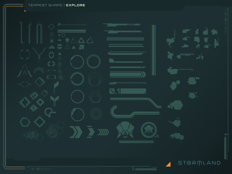 Tempest Shape Explore vector icons gui game ui design illustrator ui