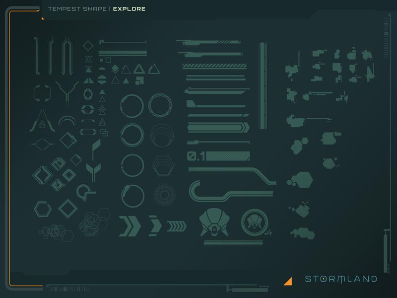 Tempest Shape Explore vector icons gui game ui design illustrator ui