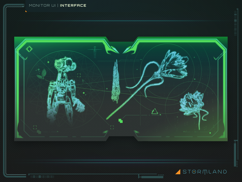 Monitor Interface ux games game ui gui vector ui photoshop