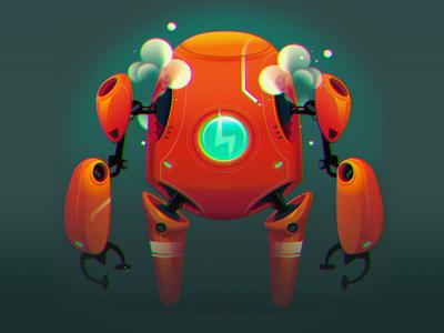 Robot Fun! sci-fi robots digital drawing illustrator affinity designer