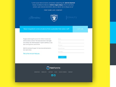 Home Page UI Design