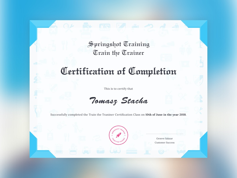 Certificate success training completion award graphic certification certificate