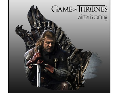 GAME OF THRONS photoshop double exposure wolf winter is coming stark a song of ice and fire game of throns illustration design