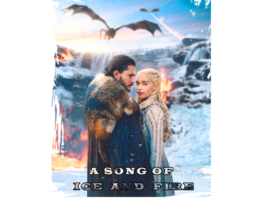 JON and Daenerys graphic design mother of drogon winter is coming drogon serial movie poster emilia clarke jon snow daenerys a song of ice and fire game of thrones design