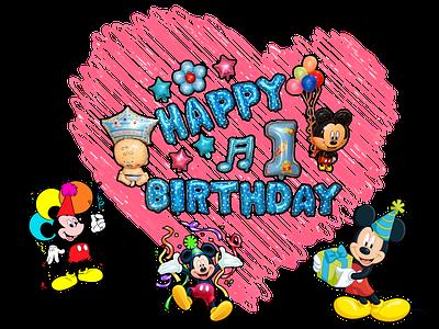 happy birthday Mickey mouse disney cartoon character happy birthday mickey mouse design