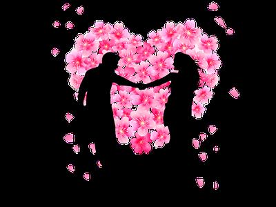 love photography flower vector logo heart love design