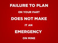 Failure to Plan