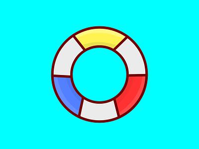 Pool Floatie pool art vector illustration design