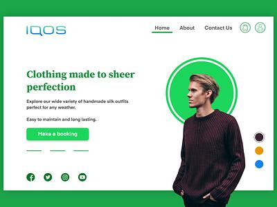 IQOS Clothings web website minimal branding design ux ui
