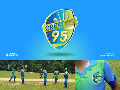 Cricket Team Logo & Jersey team logo jersey design design branding logo design logo illustration
