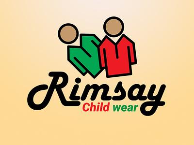 Rimsay Child Wear versatile logo flat logo minimalist logo logo vector adobe illustrator minimal