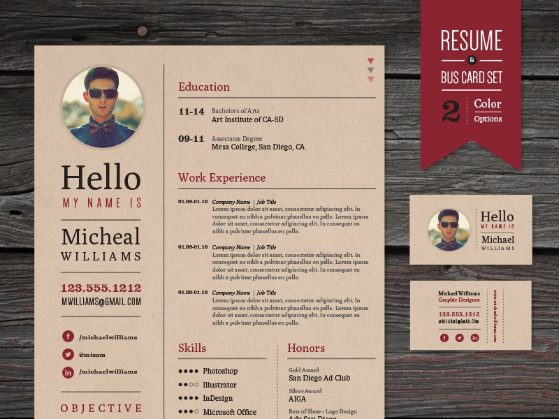 Hipster resume business card set by skybox creative dribbble hipster resume template dribble 2 colourmoves